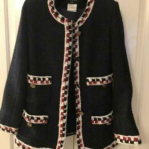 Chanel Authentic Navy Jacket Size 36 (US2-6)